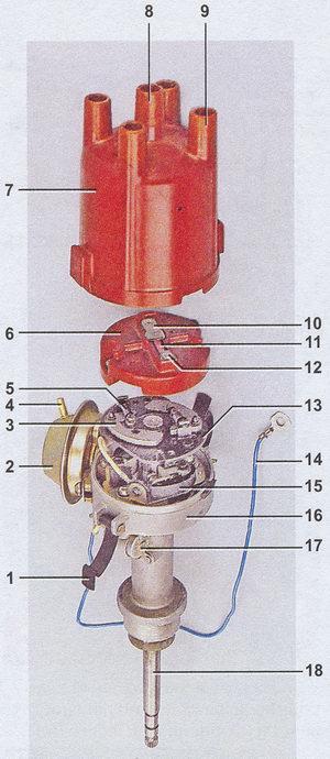 Трамблер: принцип работы, устройство прерывателя распределителя зажигания
