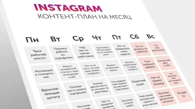 Визуальная концепция инстаграм. типы контента, контент-план в инстаграм | epicstars