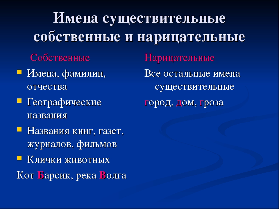 Собственные и нарицательные имена существительные, что это такое в русском языке, примеры предложений, как определить, правило | tvercult.ru