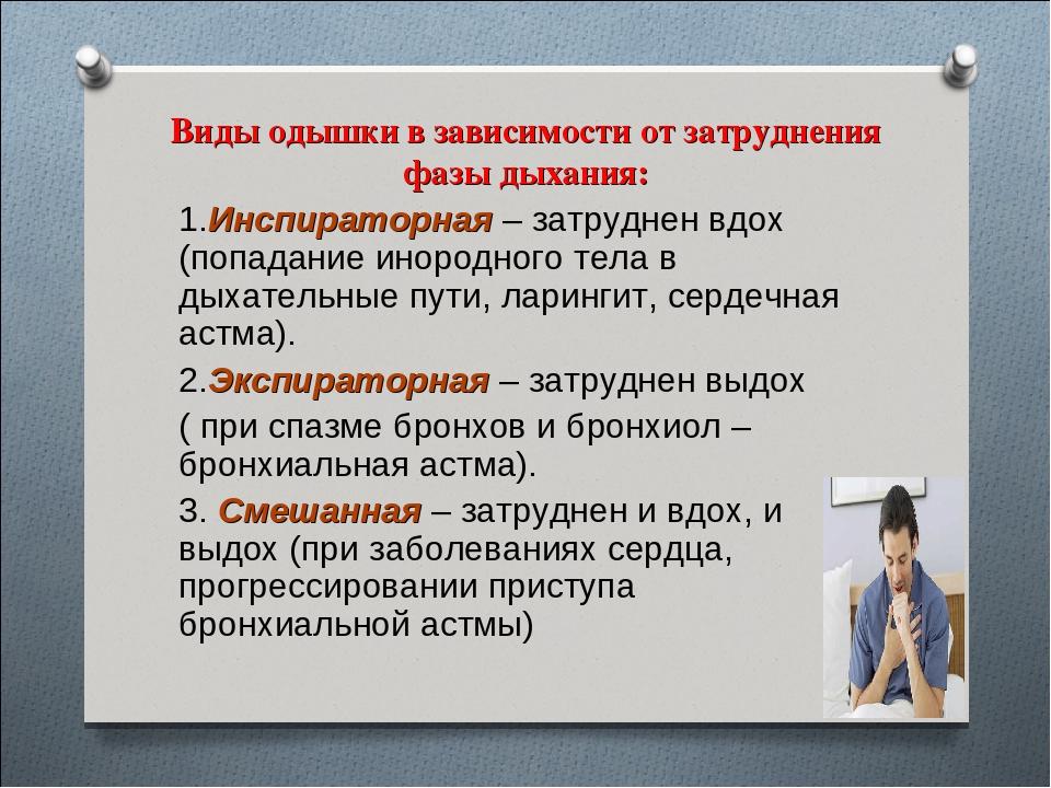 Одышка, как симптом заболевания