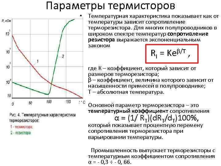 Термистор. определение, принцип работы и обозначения