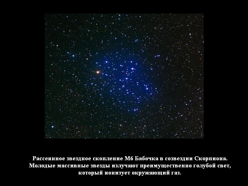 Типы звёздных скоплений — астрономический справочник