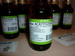 Асептолин можно ли его пить. асептолин: состав, применения, инструкции