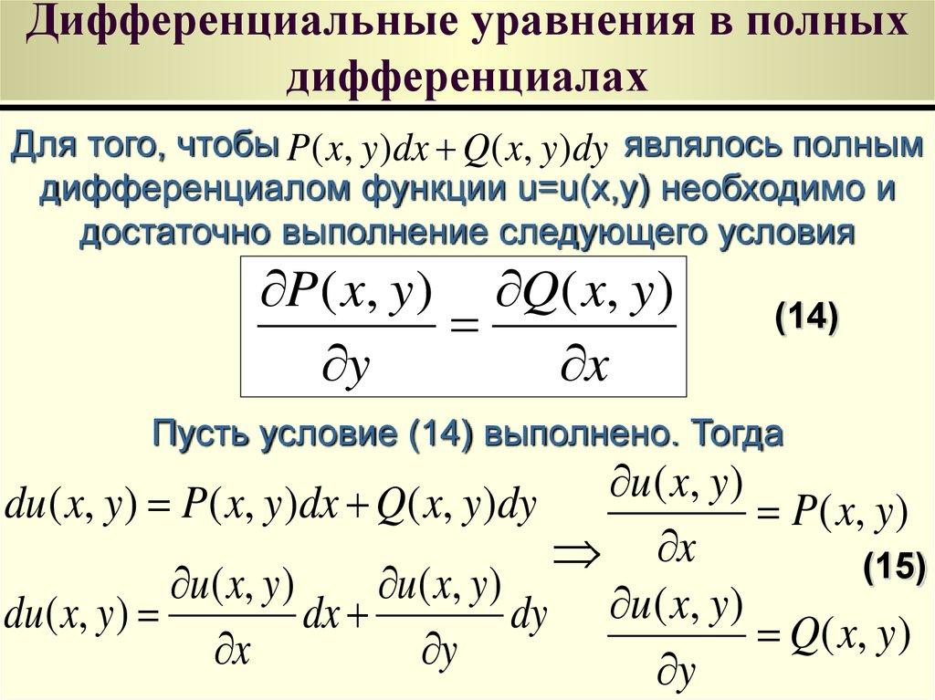 Линейное дифференциальное уравнение