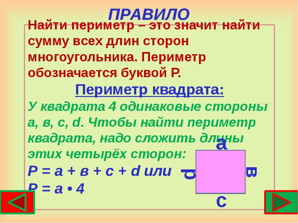 Что такое периметр и площадь