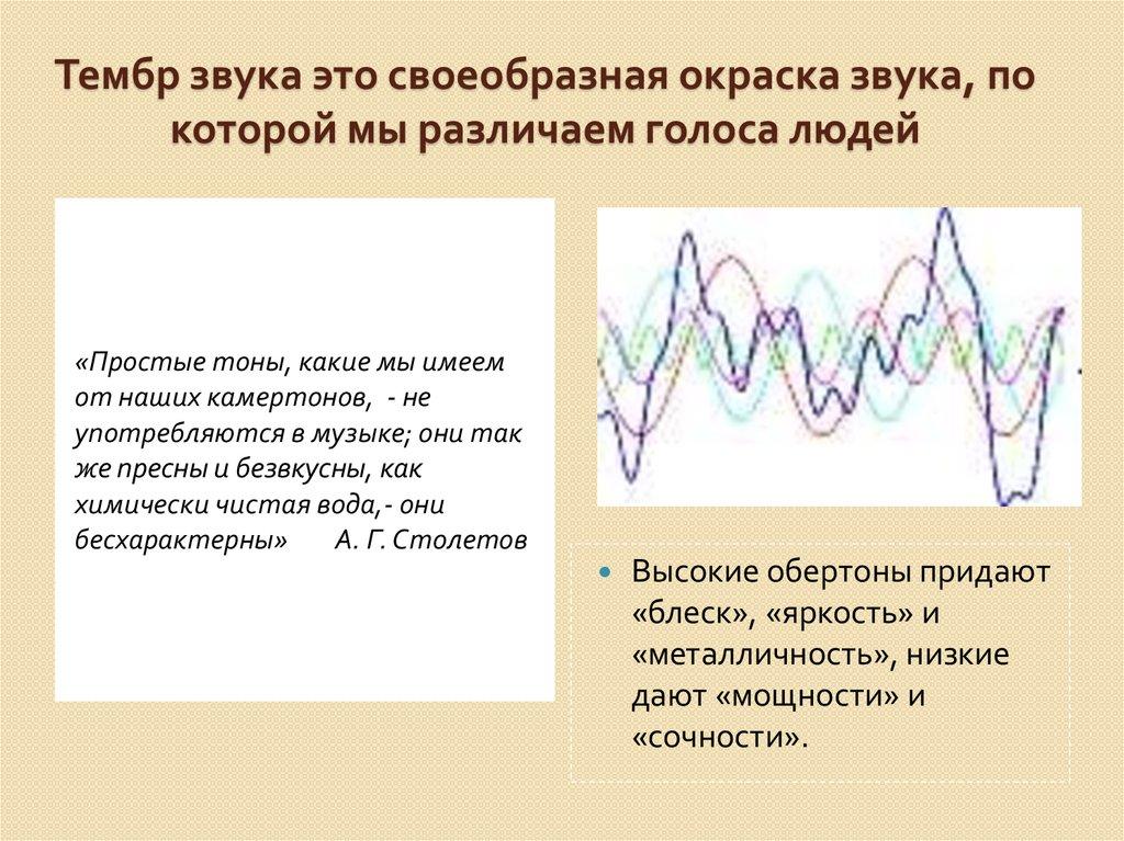 От чего зависит тембр звука — wikisound