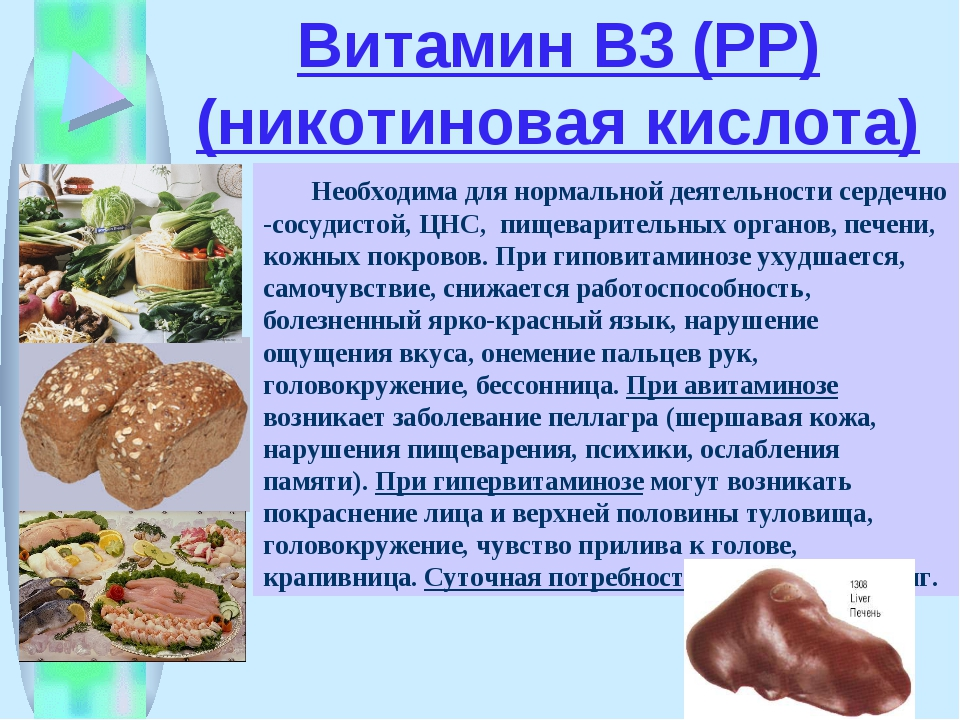 Ниацин (niacin) | никотиновая кислота | витамин b3