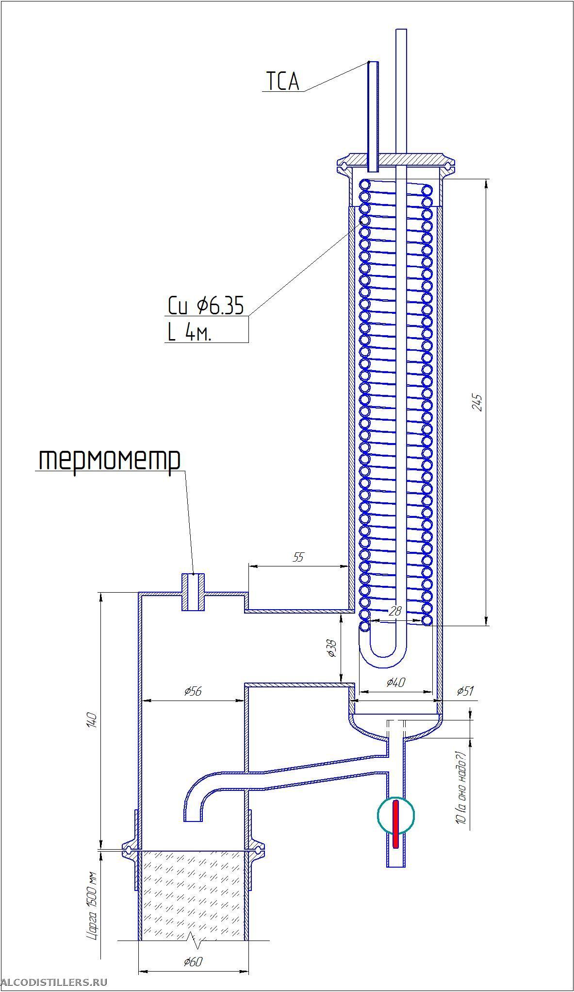 Как устроен дефлегматор для самогонного аппарата