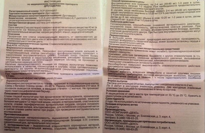 Дротаверин - инструкция по применению, цена, отзывы и аналоги | spacream.ru