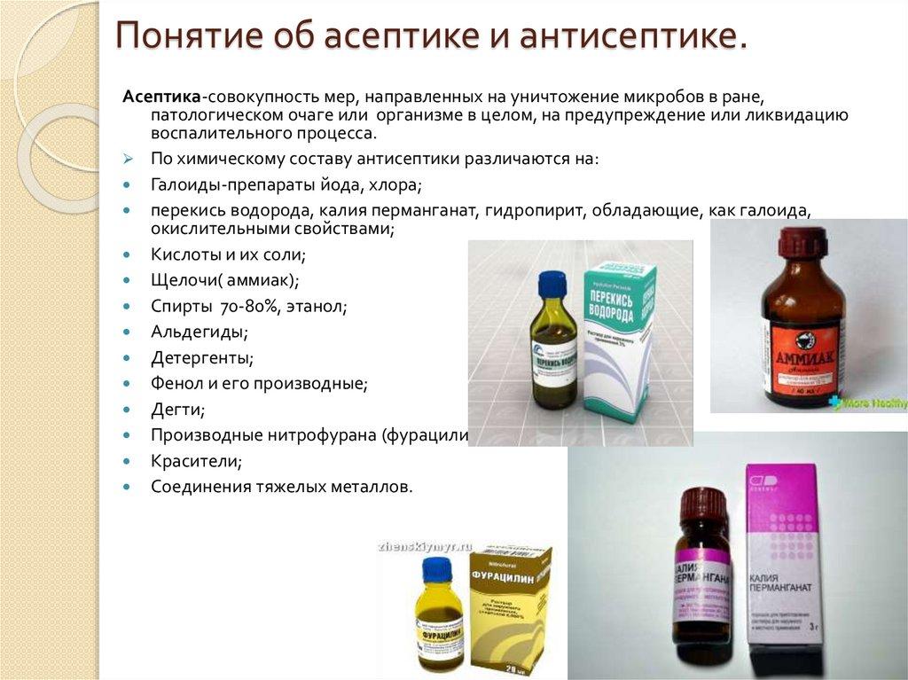 Асептика и антисептика - понятие, определение, виды, характеристика.