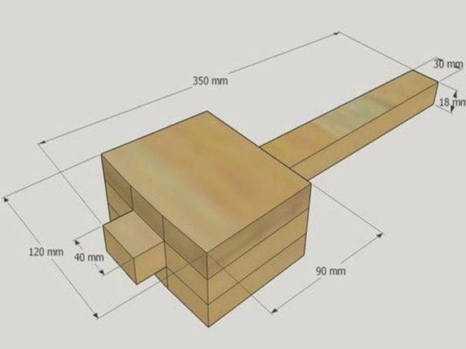 Деревянная киянка со скошенными краями. киянка резиновая или деревянная – без урона для стамесок! что нужно для построения деревянной киянки