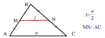 Длина средней линии треугольника