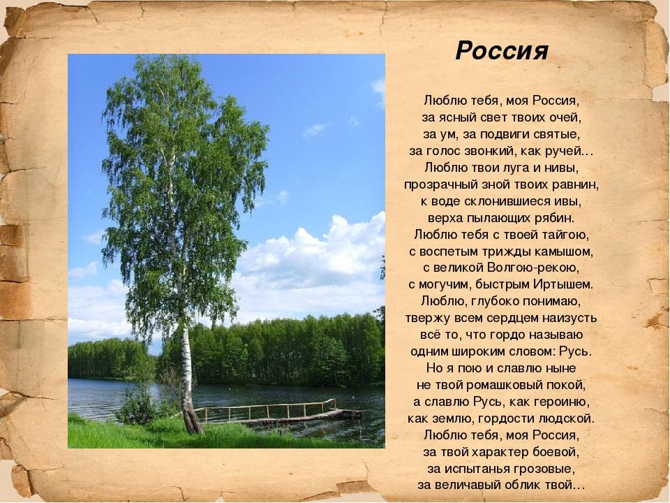 Стихи о россии и про россию