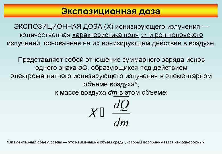 Дозиметрия ионизирующего излучения. поглощенная доза.
