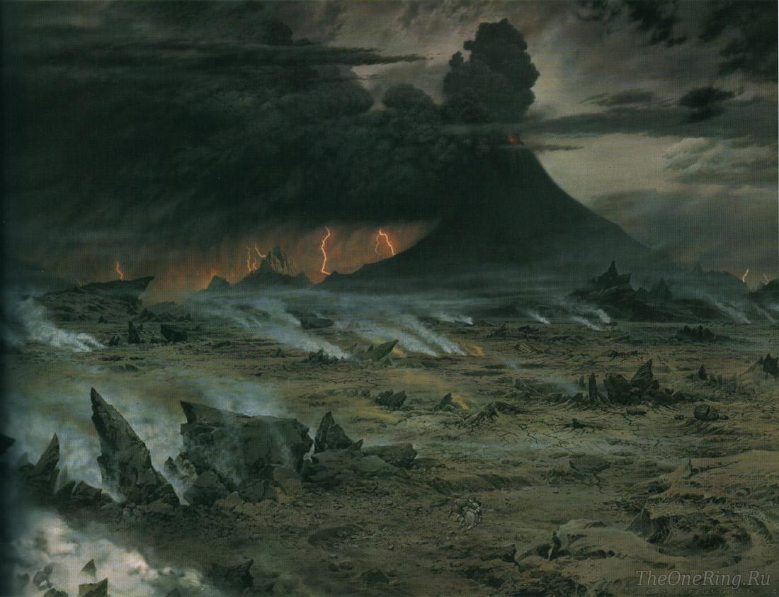 Мордор - земли саурона из средиземья толкиена