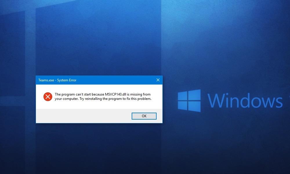 """Исправление ошибки """"запуск программы невозможен, отсутствует msvcp140.dll"""""""