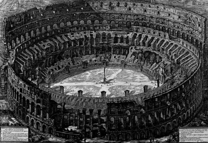 Колизей в риме - древний римский амфитеатр флавиев, символ и памятник архитектуры италии