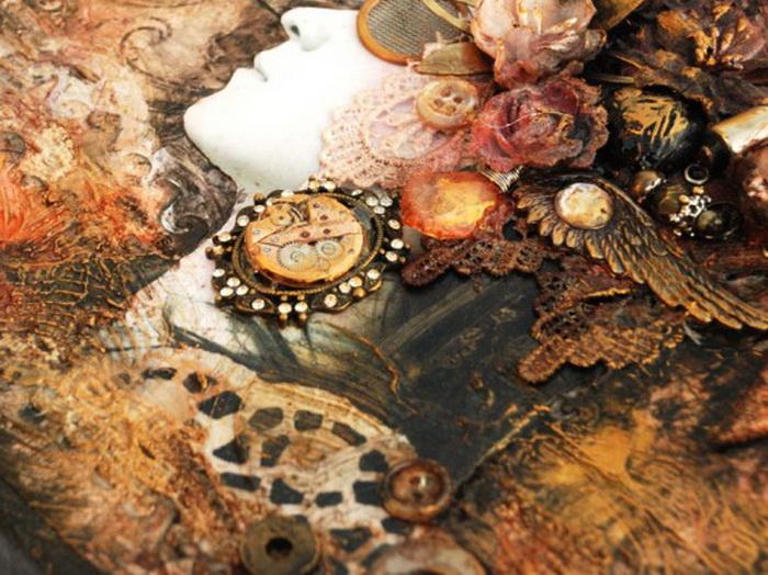 Стимпанк – модели платьев, юбок, костюмов, корсетов, обуви, сумок, браслетов, часов, макияжа, маникюра, причесок