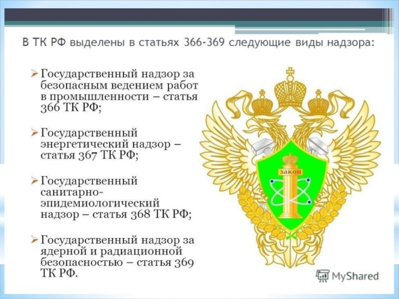Контрольно-надзорные органы рф: список, права, полномочия и особенности