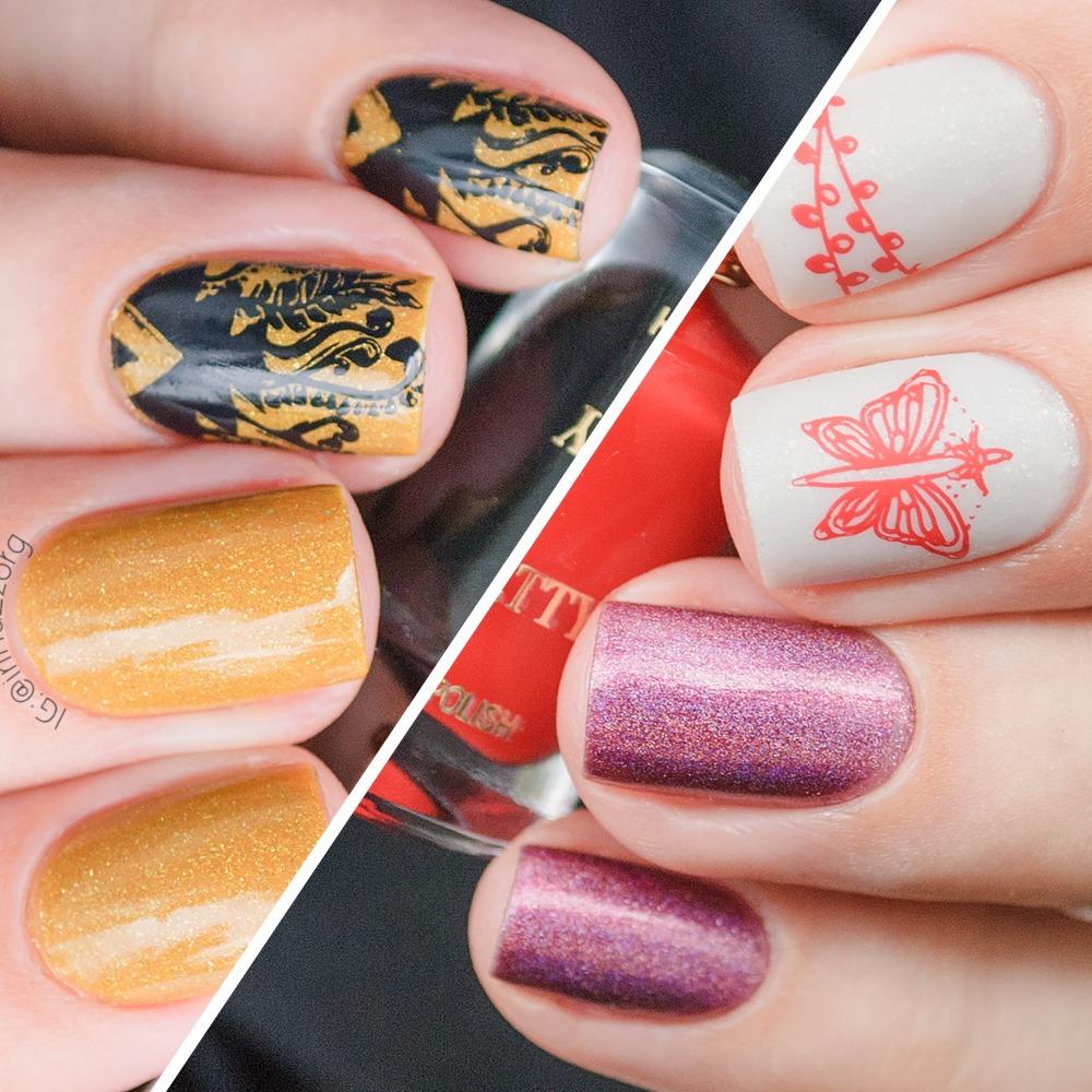 Стемпинг на ногтях. модный маникюр стемпинг — фото идеи