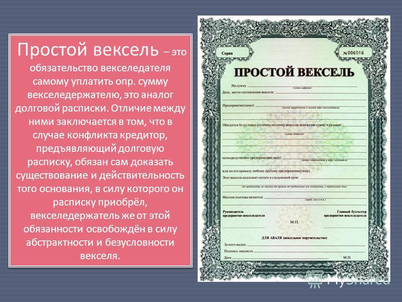 Что такое вексель: определение, виды и их применение при расчетах :: businessman.ru