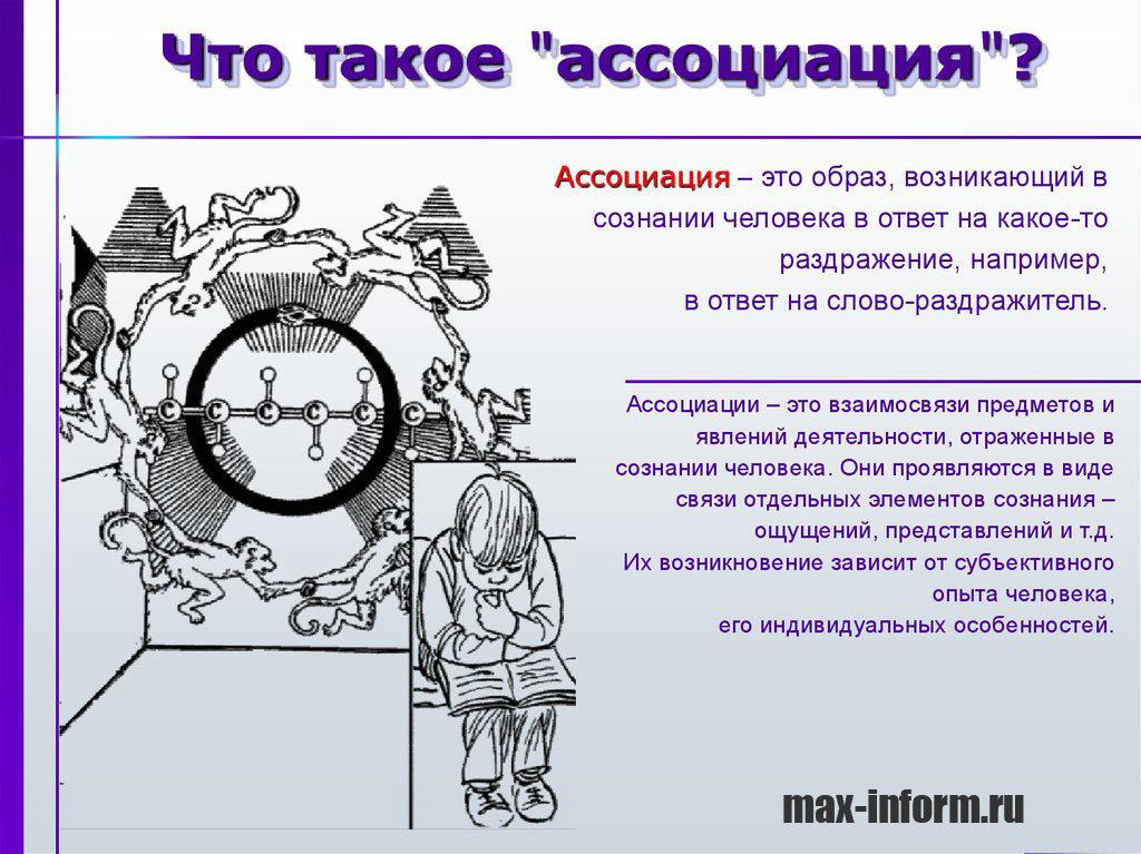 Ассоциация: понятие, основные виды в психологии, какие методы ассоциации используются в психодиагностике.