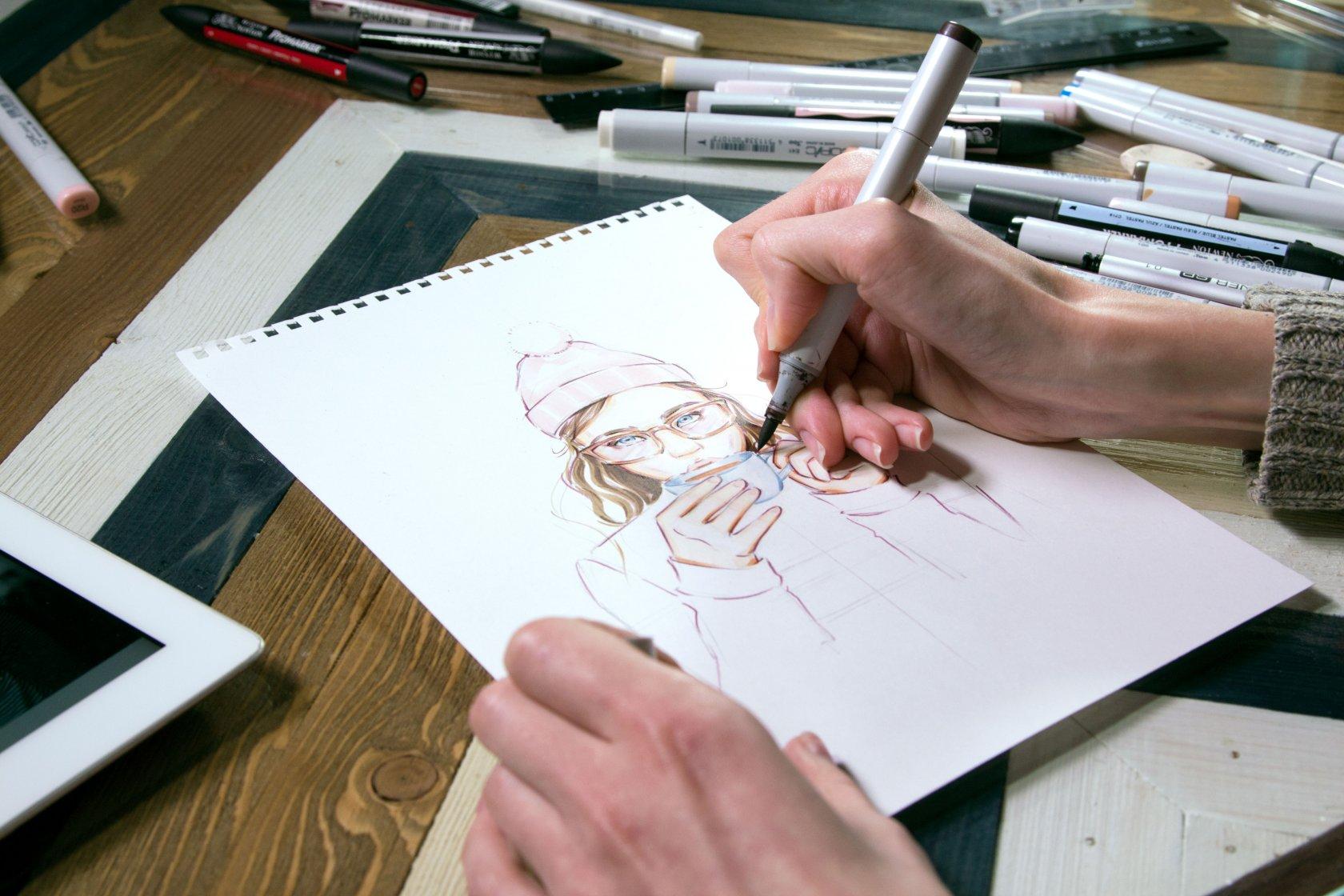 Скетчинг: как нарисовать сайт на бумаге —статьи на skillbox