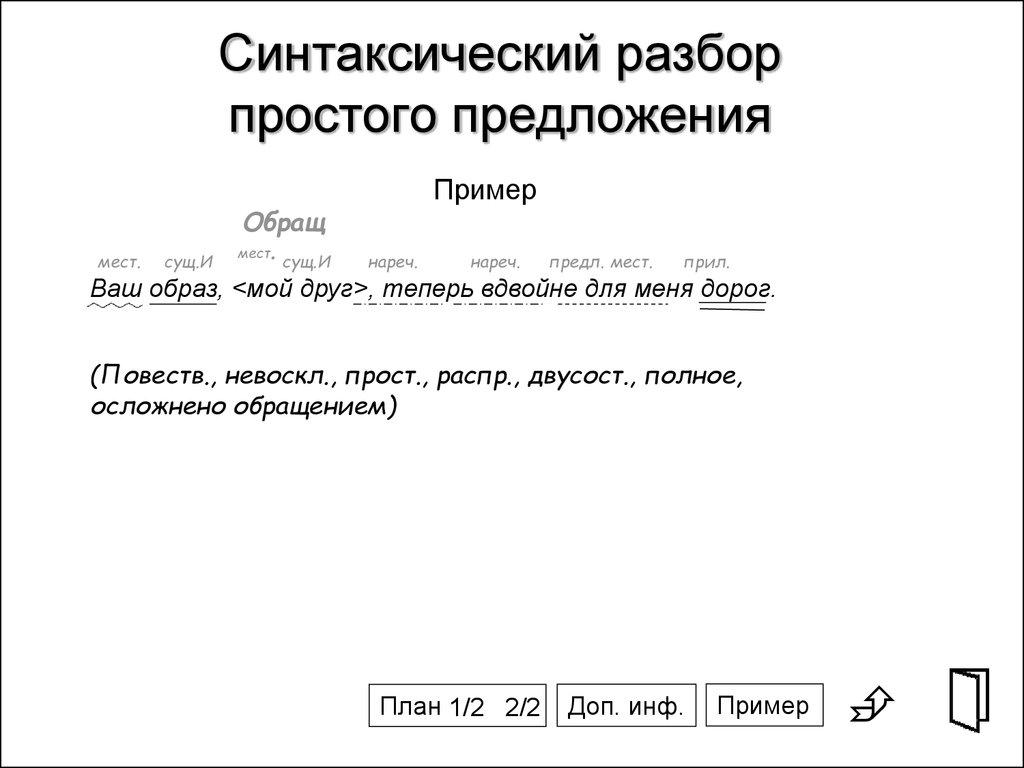 Синтаксический разбор простого предложения – схема и примеры (5 класс, русский язык)