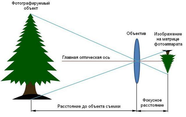 Что такое фокусное расстояние линзы?