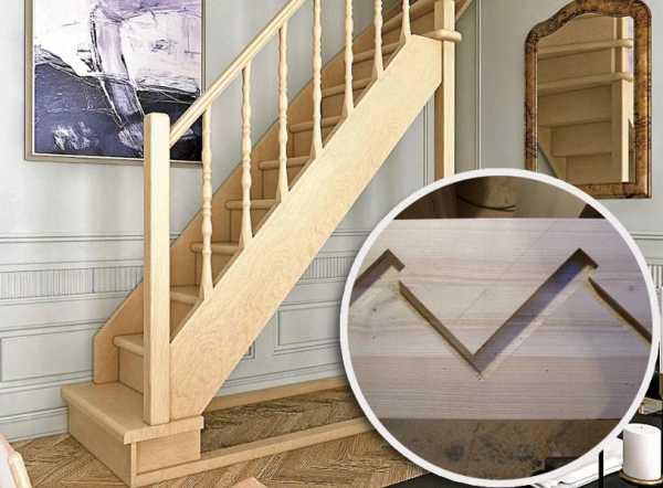 Как разметить тетиву деревянной лестницы