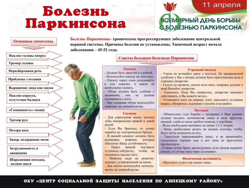 Болезнь паркинсона: симптомы, диагностика, лечение