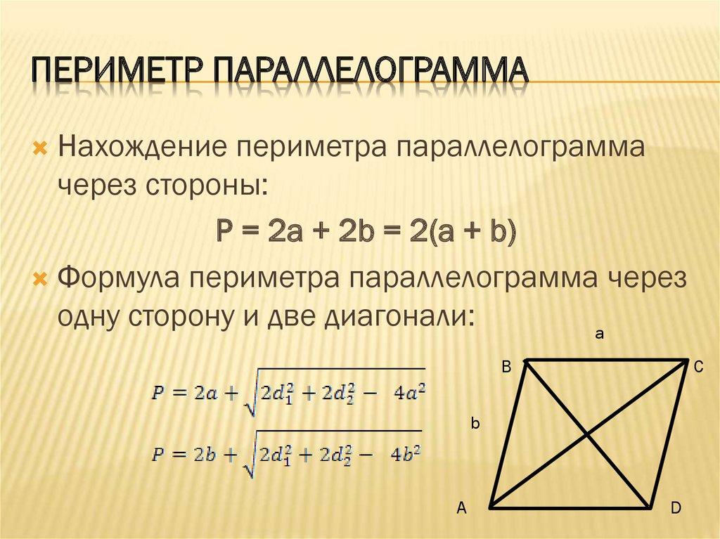 Квадрат, свойства и формулы, площадь и периметр