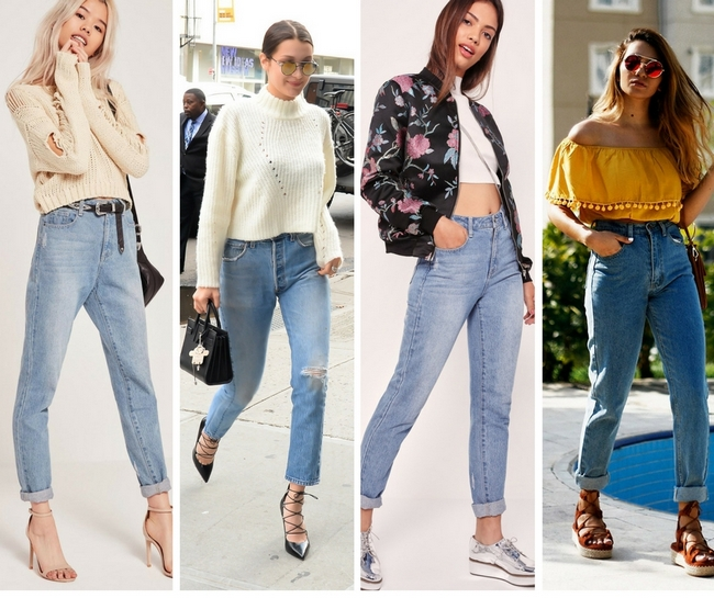 Как и с чем носить джинсы мом? наводки, где купить mom jeans   allsisters