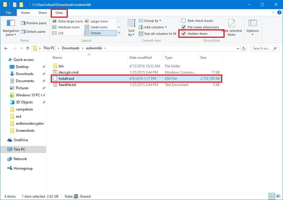 Что такое расширение файла esd?