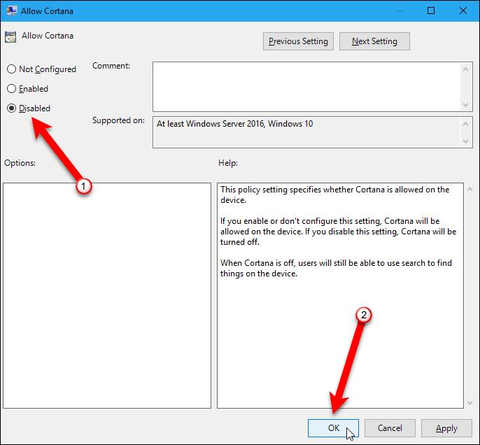 Как отключить кортану в windows 10
