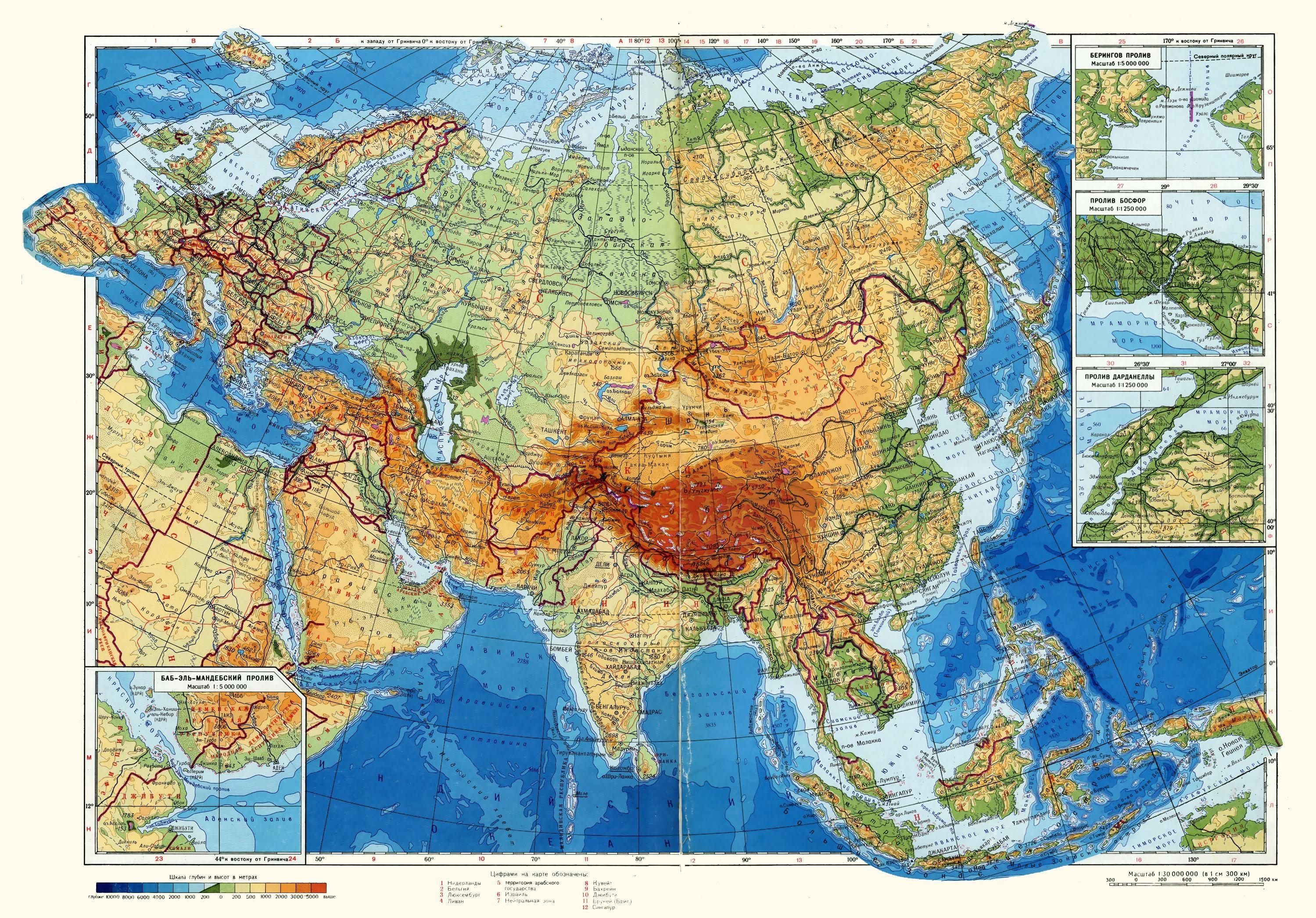 Материк евразия, площадь, природные зоны, какие океаны омывают, список стран, кто открыл евразию, рельеф, климатические пояса, самые высокие горы, вулканы