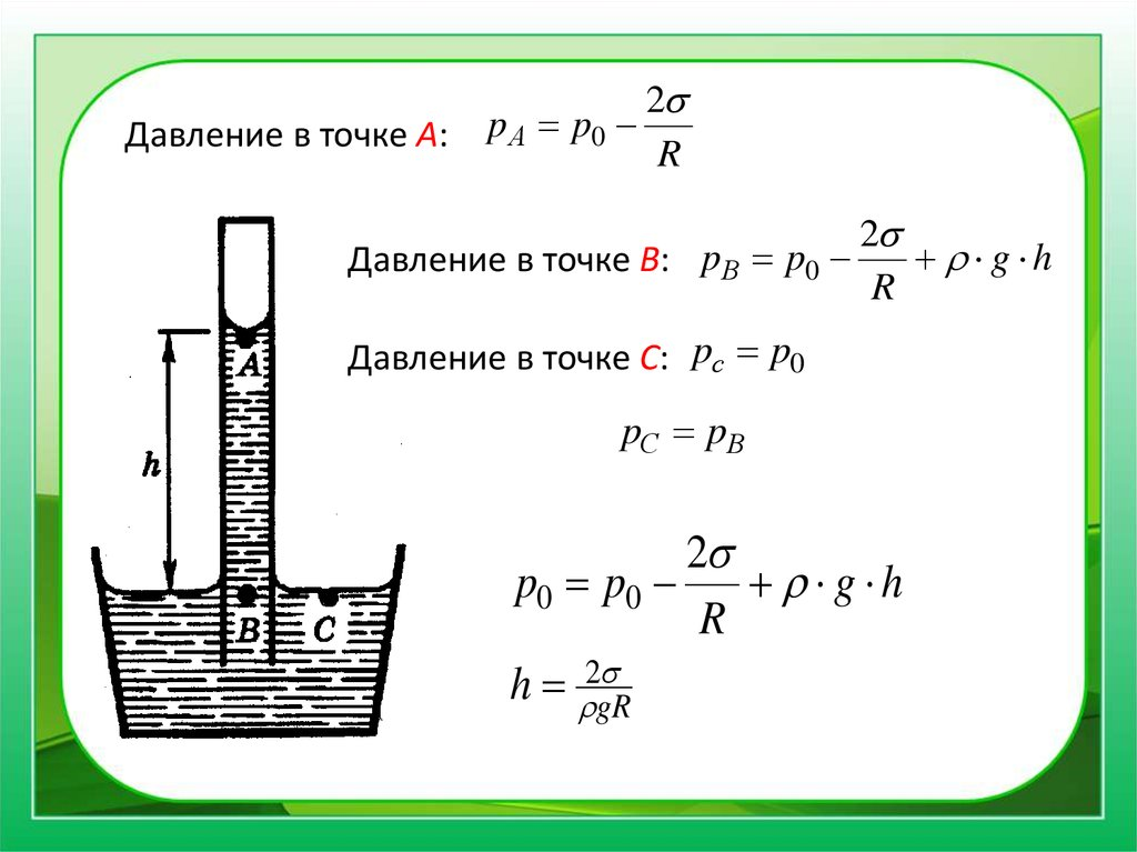 § 7.4. сила поверхностного натяжения