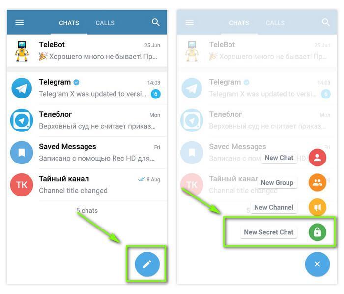 Чаты в телеграмме, как создать секретный чат в telegram