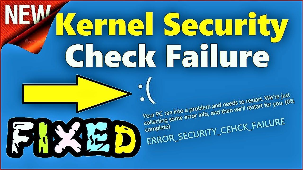 "Как исправить ошибки kernel_security_check_failure типа ""синий экран"" (0x00000139)"