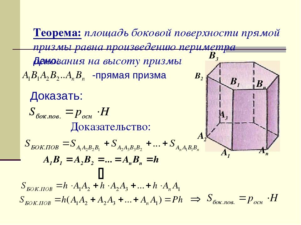 Что такое призма? формулы для длин ее диагоналей, площади поверхности и объема | klevo.net