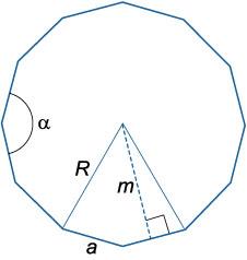 Подготовка школьников к егэ и огэ  (справочник по математике - планиметрия - правильные многоугольники)