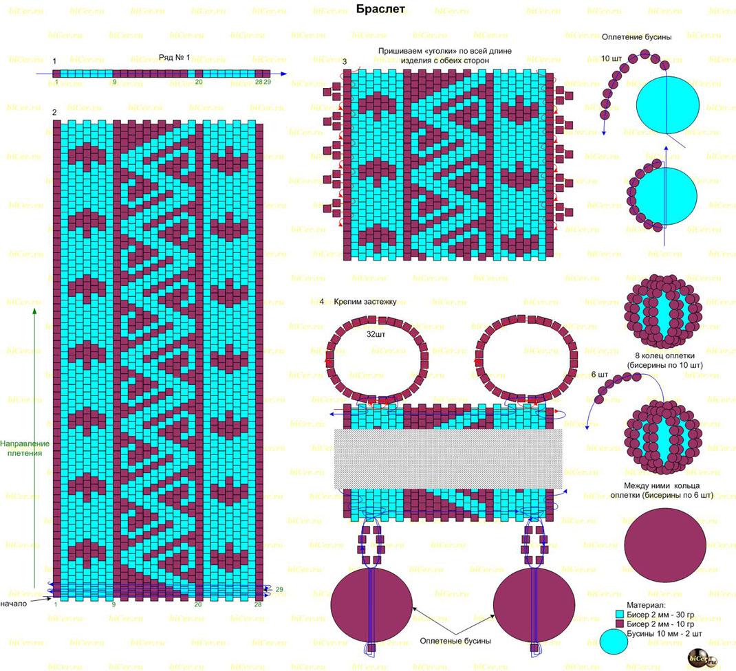 Фенечки из мулине: схемы плетения для начинающих, прямое и косое плетение