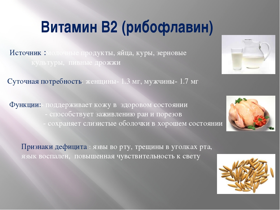 Продукты питания богатые витамином в2 - рибофлавин, лактофлавин, витамин g