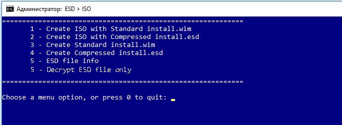 Как конвертировать install.esd в установочный iso-образ windows 10