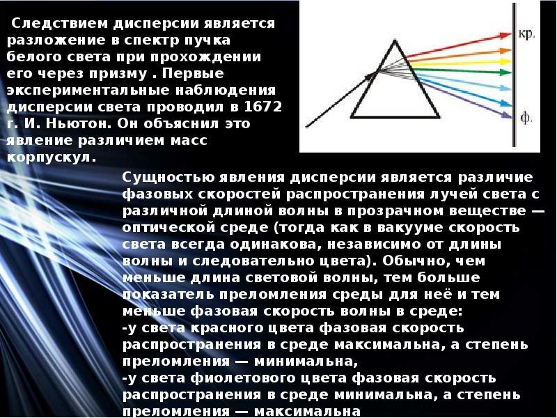 Дисперсия света: история открытия и описание явления :: syl.ru