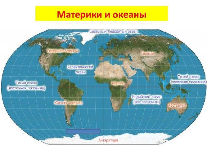 Сколько материков на земле - названия, площадь, население, карты и описание