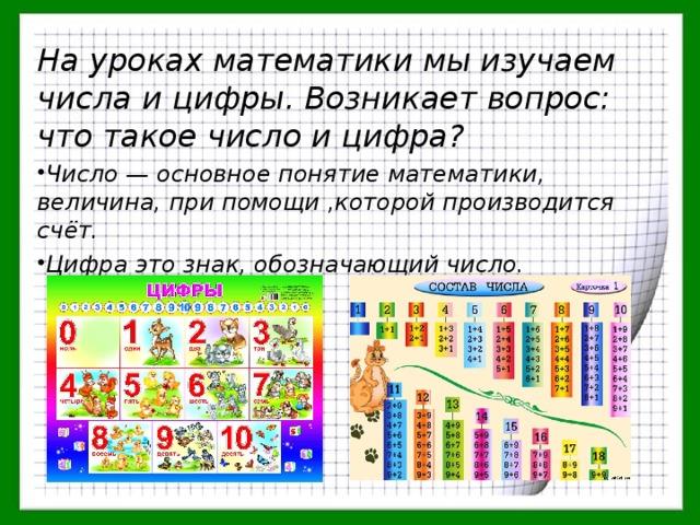 Чем отличается цифра от числа? определение цифры и числа