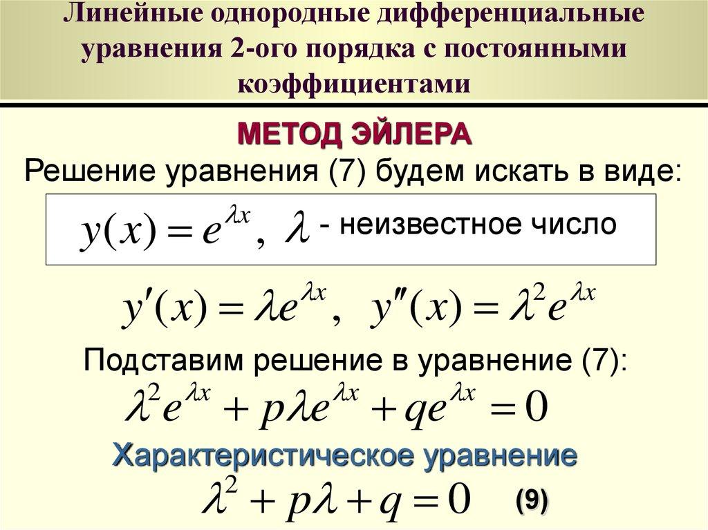 Однородные дифференциальные уравнения первого порядка. примеры решений