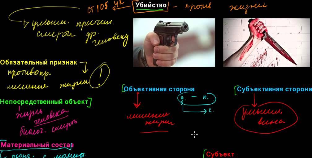 Характерные признаки простого убийства в уголовном праве