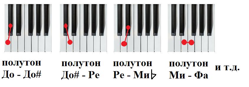 Полутон - semitone